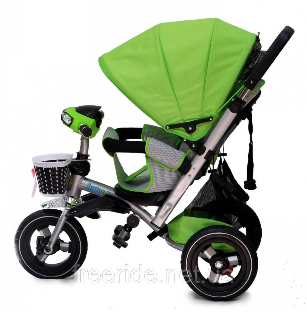 Детский трехколесный велосипед Baby trike CT-90 зеленый