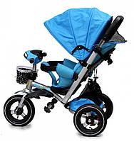 Детский трехколесный велосипед Baby trike CT-90 голубой