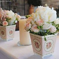 Живые цветы на стол молодоженов