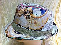 Шляпа под мужской стиль федора с принтои