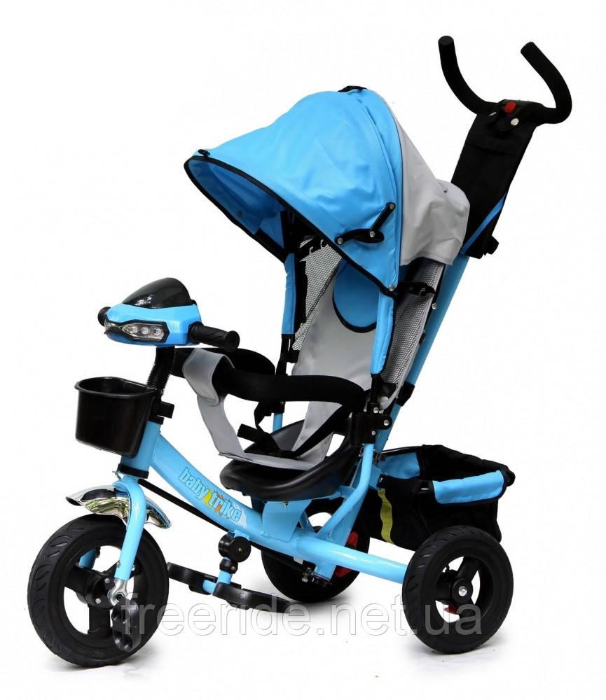 Детский трехколесный велосипед Baby trike CT-61 голубой