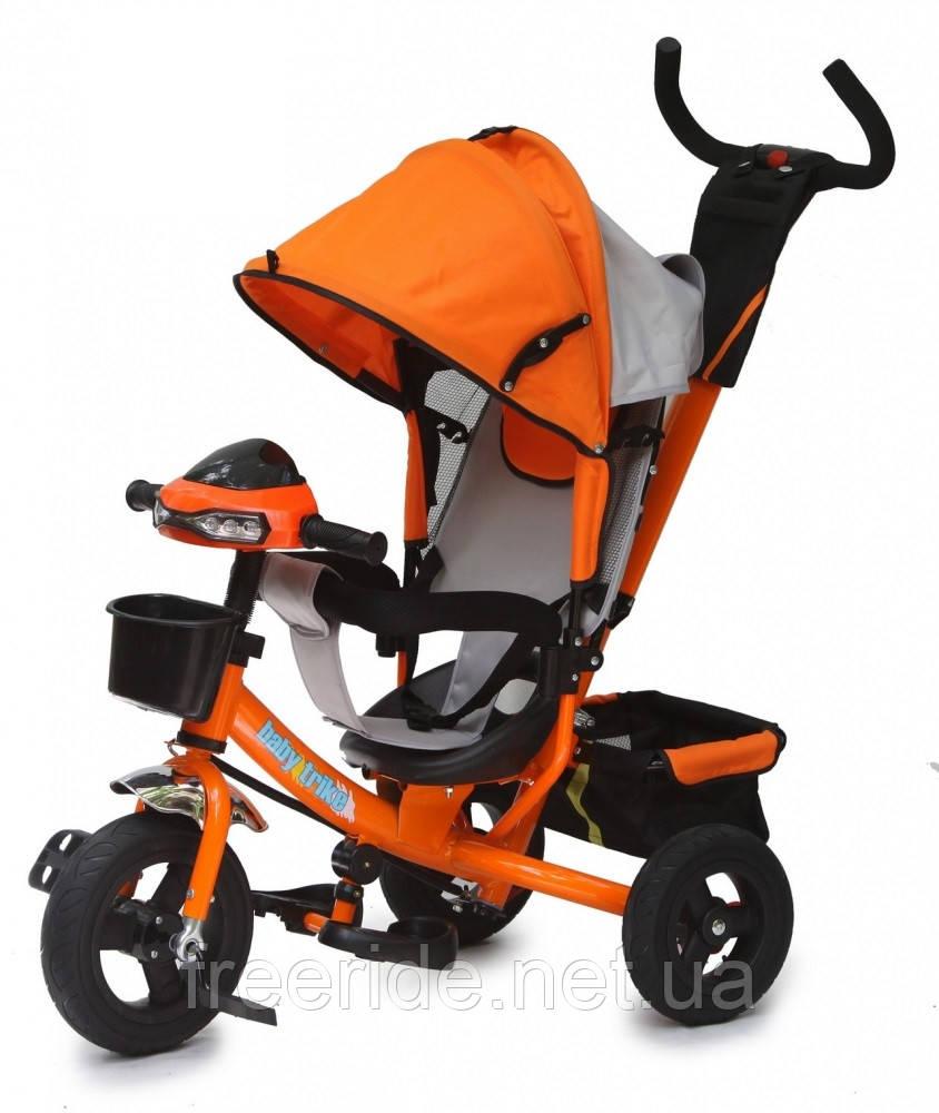 Детский трехколесный велосипед Baby trike CT-61 оранжевый
