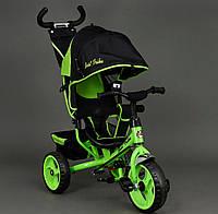 Велосипед трехколёсный Best Trike 6570 салатовый, колеса пена