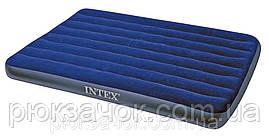 Полуторный надувной матрас Intex Classic Downy 137Х191Х22 см. 68758