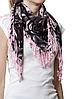 Розовый кашемировый платок Роза