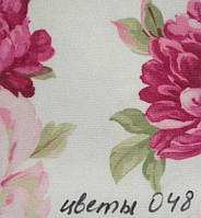 Рулонная штора Цветы (580х1600). 048. Розовый цветок.