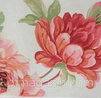 Рулонная штора Цветы (580х1600). 051. Красный цветок.