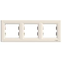 Рамка тройная горизонтальная кремовая ASFORA Schneider Electric EPH5800323