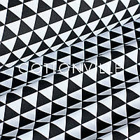 ✁ Відрізи тканини Чорні трикутники