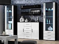 Гостиная Soho 3 Cama Meble черный / белый глянец
