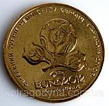 Юбилейная монеты Украина 1 гривна 2012 г. ЕВРО-2012, фото 3