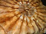 Меховые круг  с шкур лисице, фото 2