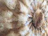 Меховые круг  с шкур лисице, фото 3
