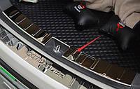 Mitsubishi Outlander 2015 накладка защитная на задний бампер внутренняя тип A