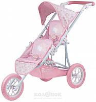 Прогулочная коляска для двойни BABY ANNABELL - Тандем (трехколесная)