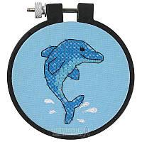 "Набор для вышивания ""Дельфин"" Dimensions Dolphin Delight Stamped Cross Stitch Kit 72533"