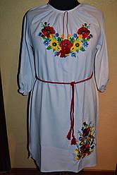 """Жіноче плаття""""Вишиванка Маки з соняшниками"""""""