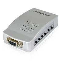 Конвертер cvhg-e48, подключение телевизора к компьютеру, converter vga tv rca + s-video, купить конвертер vga