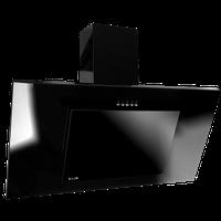 Вытяжка наклонная nero glass(akpo)польша
