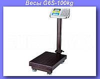 Весы электронные торговые BITEK 100кг с усиленной платформой 30х40см YZ-909-G6S-100kg!Опт