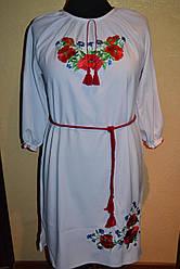 """Женское платье""""Вышиванка Маки с волошками"""""""