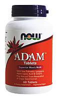 Мульти-витаминный комплекс для мужчин АДАМ / NOW - ADAM Tablets Superior Mens Multi (60 tabs)