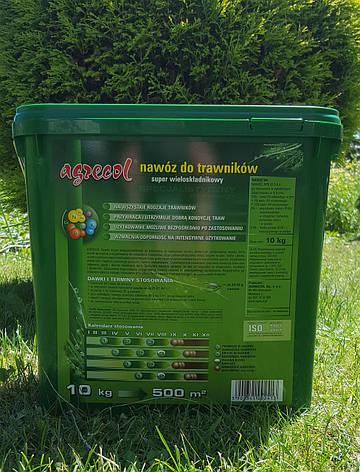 Удобрение Agrecol для ГАЗОНОВ супер многокомпонентное 10кг (гранулированное), фото 2