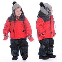 Зимний комплект для мальчика 12-36 мес. (куртка, полукомбинезон, рукавички, пинетки, манишка) ТМ Deux par Deux N504-744
