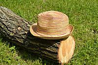 Стильная женская летняя соломенная разноцветная шляпа