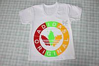 """Белая футболка """"Адидас"""" для мальчиков и девочек"""