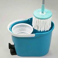 Швабра magic mop, быстрая и эффективная уборка, швабра с отжимом, 1 насадка из микрофибры