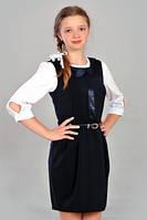 Школьный черный  сарафан Моника  для девочек размеров  146, 152, 158 оптом и в розницу