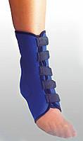 Бандаж на голеностоп эластичный. Размеры: S, M, L, XL, XXL. Черный, синий