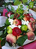 """Фруктовый букет с розами """"Румяные щечки"""", фото 3"""