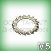 Шайба 5 DIN 6798A (ГОСТ 10463-81) зубчатая нержавеющая