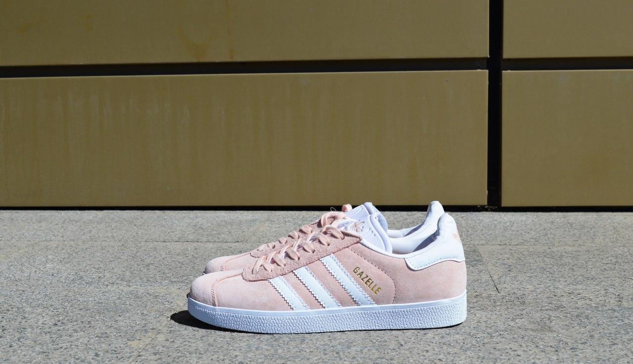Кроссовки женские розовые Адидас Газели (Adidas Gazelle) размер 36-40