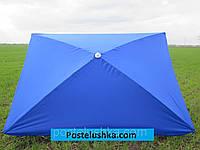 Зонт для сада, пляжа прямоугольный 1,5х2,5 м с серебряным напылением цвета в ассортименте