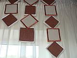 Жесткий ламбрекен Ромбики и квадраты 2м , фото 3