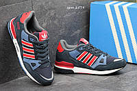 Мужские кроссовки Adidas ZX 750 темно синие с красным