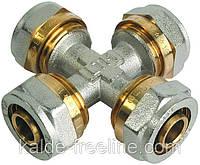 Крест соединительный 20*20*20*20 для металлопластиковой трубы