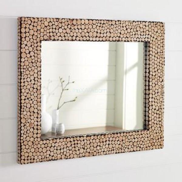Прямоугольное зеркало в раме МДФ