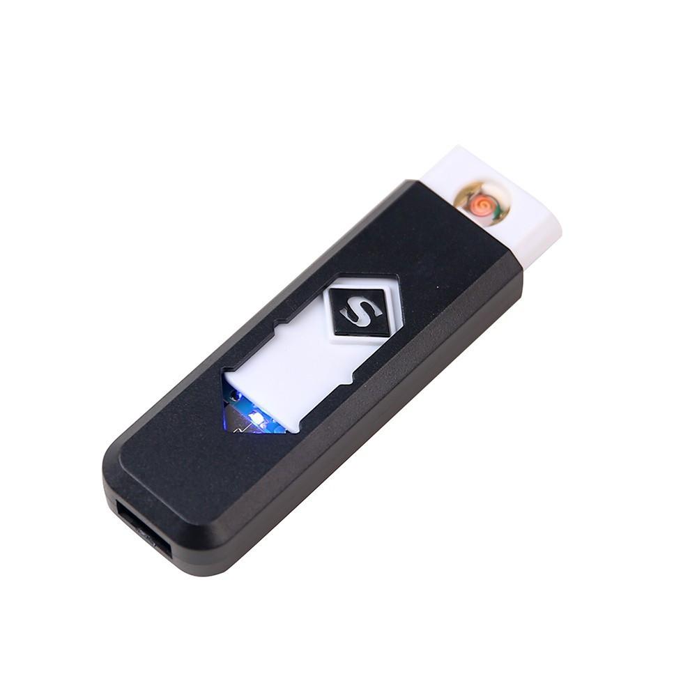 USB зажигалка электронная черная
