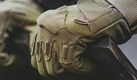 Тактические перчатки коричневые