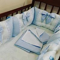 Бортики в детскую кроватку + комплект постельного белья, фото 1