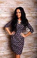 Нарядное женское платье из стрейч-джинса (распродажа остатков)