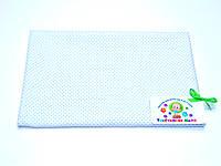 Ситцевая  пеленка (белая в голубой горох) 75х120