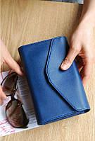 Женский кошелек клатч темно синяя