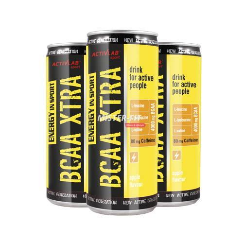 Activlab BCAA Xtra Energy Drink 250 ml, Активлаб БЦА Экстра Энержи Дринк 250 мл