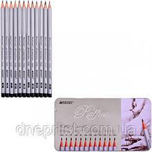 Набор простых карандашей MARCO (7000-12TN)