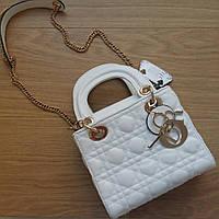 Сумочка Lady Dior белая